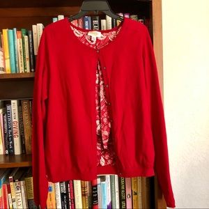 Talbots lined cardigan sweater